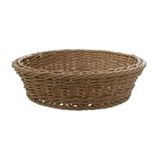 Hamper Tray & Gift Basket - Oliver Wicker Hamper Basket Round Brown (35Dx9cmH)