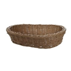 Hamper Tray & Gift Basket - Oliver Wicker Hamper Basket Oval Brown (38x27x8cmH)