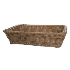 Hamper Tray & Gift Basket - Oliver Wicker Hamper Basket Rect. Brown (40x28x9cmH)