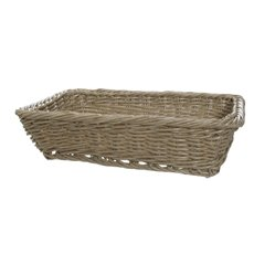 Hamper Tray & Gift Basket - Oliver Wicker Hamper Basket Rect. Natural (40x28x9cmH)