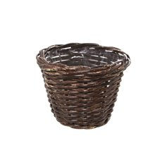 Cane Woven Planter Round Brown (18.5cmDx14cmH)