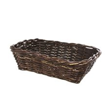 Cane Woven Hamper Tray Rectangle Brown (35.5x25.5x10cmH)