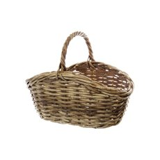Cane Woven Basket Oval Natural (34x22x11/16cmH)