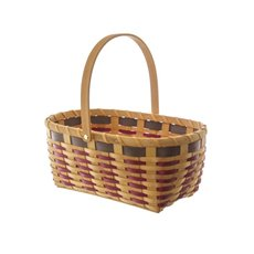 Woven Basket Oval Natural (36x24x15cmH)