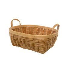 Woven Hamper Basket Oval Natural (38x28x14cmH)
