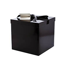 Gift Box and Lid - Flat Pack Gift Box Large Flat Pack Black (224x224x215mmH)