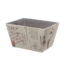 Fabric Storage Basket Vintage Natural (32x24x18cmH)