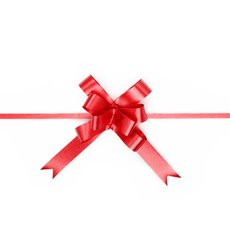Pull Bows - Ribbon Pull Bow Red (18mmx53cm) Pack 25