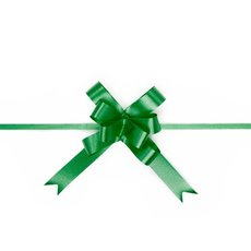 Ribbon Pull Bow 25 Pack  Emerald Green (18mmx53cm)