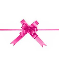 Pull Bows - Ribbon Pull Bow Hot Pink (18mmx53cm) Pack 25