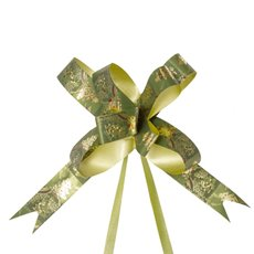 Christmas Ribbon & Bows - Ribbon Pull Bow Tree Green (18mmx53cm) Pack 25