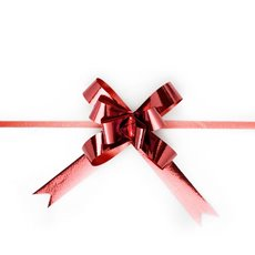 Pull Bows - Ribbon Pull Bow Metallic Red (18mmx53cm) Pack 25