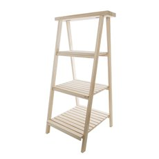 Merchandising Displays - Wooden Display Stand 3 Tier Natural Timber (48x48x98cmH)