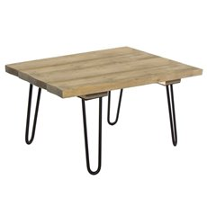 Merchandising Displays - Wooden Table With Metal Legs Grey (120x70x75cmH)