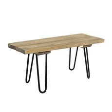 Merchandising Displays - Wooden Bench With Metal Legs Grey (100x35x45cmH)
