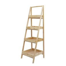 Merchandising Displays - Wood Display Stand 4 Tier Natural (50x50x156cmH)