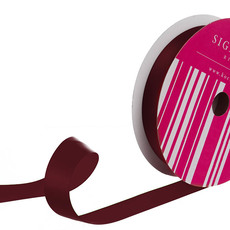 Satin Ribbons - Bulk Ribbon Single Face Satin Burgundy (25mmx50m)