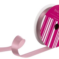 Satin Ribbons - Bulk Ribbon Single Face Satin Dust Pink (25mmx50m)