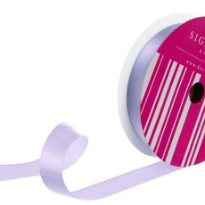 Satin Ribbons - Bulk Ribbon Single Face Satin Lavender (25mmx50m)