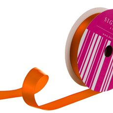 Bulk Ribbon Single Face Satin Orange (25mmx50m)
