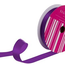 Bulk Ribbon Single Face Satin Purple (25mmx50m)