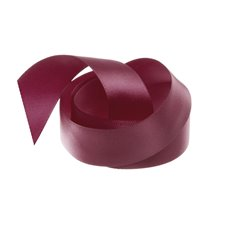 Satin Ribbons - Ribbon Single Face Satin Woven Edge Burgundy (25mmx20m)