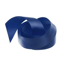 Satin Ribbons - Ribbon Single Face Satin Woven Edge Navy (25mmx20m)