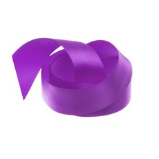 Satin Ribbons - Ribbon Single Face Satin Woven Edge Purple (25mmx20m)