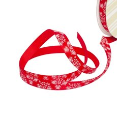 Satin Ribbons - Ribbon Single Face Satin Leaf Red (10mmx20m)