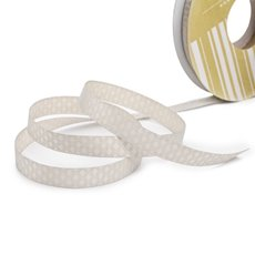 Satin Ribbons - Single Face Satin Ribbon Tile Cream (10mmx20m)