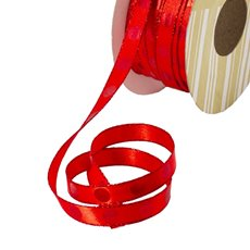 Satin Ribbons - Single Face Satin Ribbon Dot Red (10mmx20m)