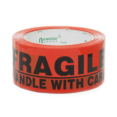 Adhesive Tapes - Packing Tape FRAGILE Orange (48mmx75m)