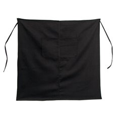 Florist Bistro Apron with Pockets Black (80x80cm)