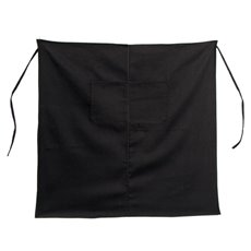 Florist Apron - Florist Canvas Waist Apron with Pockets Black (80x80cm)