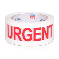 Adhesive Tapes - Packing Tape URGENT Red White (48mmx75m)