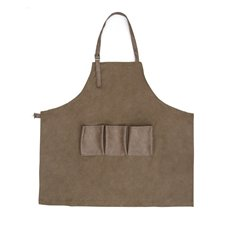 Floral Accessories - Florist Canvas Apron with Pockets Dark Brown (80x90cm)