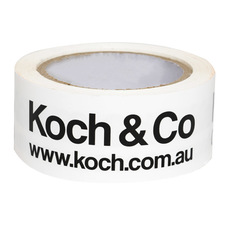 Packing Tape with Koch Logo White (48mmx75m)