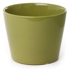 Florist Flower Pots - Ceramic Bondi Conical Tapered Moss (15Dx12cmH)