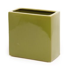 Ceramic Bondi Rectangle Vase Moss (8x16x16cmH)