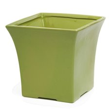 Florist Flower Pots - Ceramic Flora Flared Square Pot 19x19x19cmH Moss