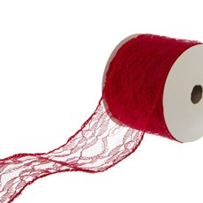 Lace & Decorative Ribbons - Ribbon Lace Red (60mmx10m)