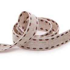 Ribbon Muslin Chocolate Stitch (15mmx20m)