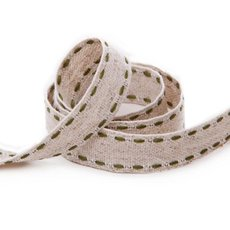Cotton & Linen Ribbons - Ribbon Muslin Moss Stitch (15mmx20m)