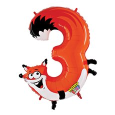 Zooloons Giant Helium Balloon 40 (100cmD) Fox No.3