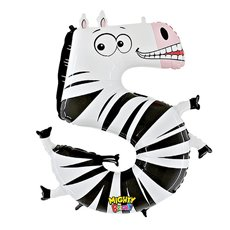 Zooloons 40 Giant Helium Balloon Zebra No.5