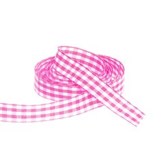Ribbon Gingham Hot Pink (15mmx20m)