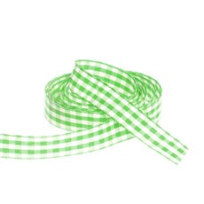 Ribbon Gingham Lime (15mmx20m)
