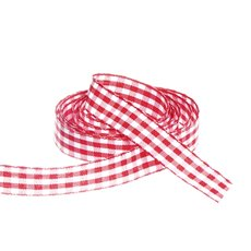 Ribbon Gingham Red (15mmx20m)
