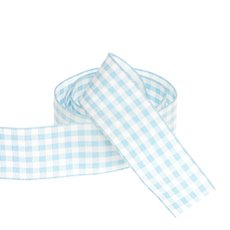 Ribbon Gingham Baby Blue (25mmx20m)