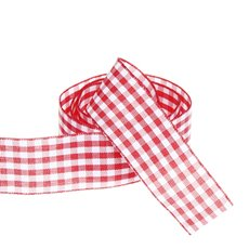Ribbon Gingham Red (25mmx20m)
